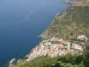 Riomaggiore seen from the sanctuary of Montenero
