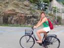 Gita in bicicletta lungo la vecchia ferrovia