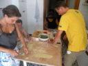 Laboratorio di cucina in una vera casa riomaggiorese
