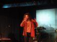 Marco Carbone, meglio conosciuto come U Carbùn, vincitore del primo premio nella categoria solisti con il pezzo «Chi nu cianze u nu tetta»